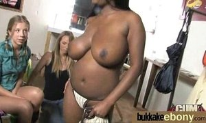 Ebony gets fucked in all holes by a group of white dudes 1