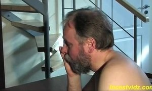 Cute blonde daughter fucks with father xVideos