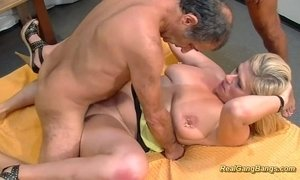 extreme pierced stepmom in real gangbang xVideos
