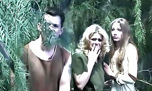 Sultry sorceresses enchants a dude to replace the monster and gets both holes nailed