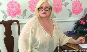 British sexiest granny secretaries stripping off xVideos